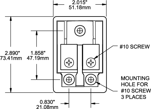 maxi fuse block 30 to 80a blue sea systems dimensioned drawing · other maxi fuse blocks