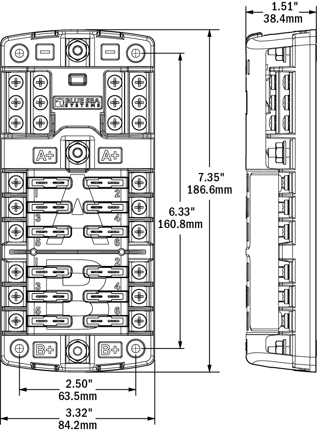 5032 st blade split bus fuse block blue sea systems blue sea fuse block wiring diagram at n-0.co