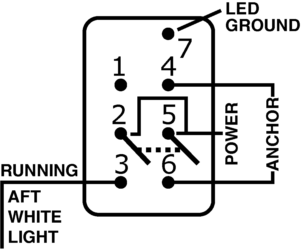 Lighted Switch Wiring Diagram Contura X Library Carling Onoff Rocker Included Dpdt Black On Off Blue Sea Systems Pin Out Drawing
