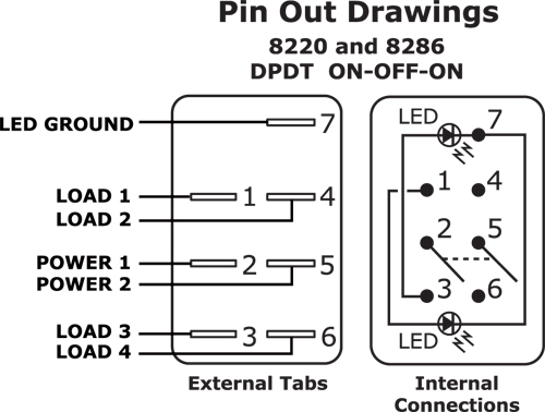 8220_8286 utv switch wiring diagram 6 pin diagram wiring diagrams for diy 6 pin rocker switch wiring diagram at bakdesigns.co